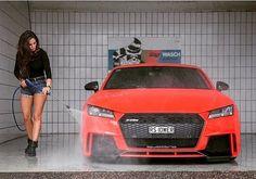 Enough dirty talk - time to get clean -- #Audi #TTRS photo @audirs3_ttrs_club ---- oooo #audidriven - what else ---- #AudiTTRS #newTTRS #4rings #quattro #AudiSport #5cylinder #quattroGmbH #drivenbyvorsprung #carsbyAudiSport #AudiSportcars #redttrs #auditt #tt #redaudi #blacklist #blackoptics #auditts #tts