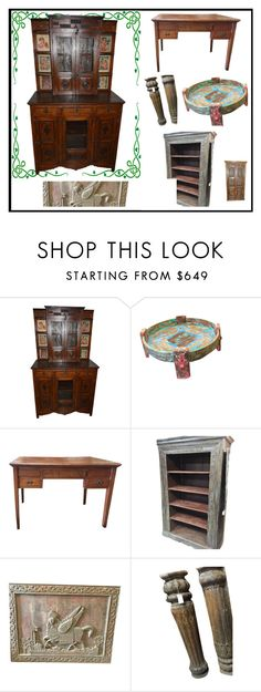 Antique Carved Furniture by era-chandok on Polyvore featuring interior, interiors, interior design, home, home decor, interior decorating, WALL and rustic
