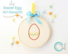 DIY Easter Eggs Hoop Art!!!! | Ef Zin Creations