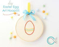 DIY Easter Eggs Hoop Art!!!!