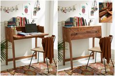 Mid-Century Fold Out Desk ($429). Essential fold-out desk with secret storage compartments that lift to reveal plenty of room for pencils, paper and more.