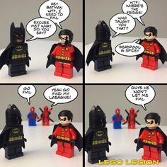 lego deadpool funny | Deadpool & Spider-Man are a bad influence on Robin... - Lego Legion
