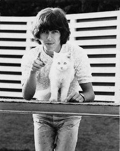George Harrison withcat