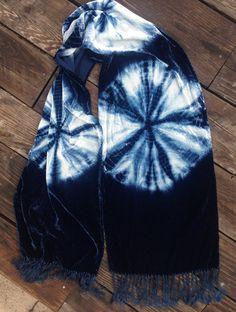 Kumo Round Motif Scarf // Silk Rayon Velvet – Modern Shibori