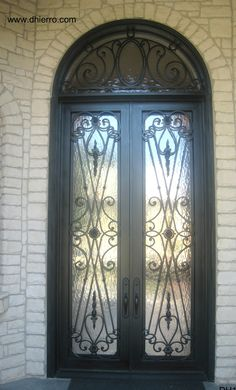 ID 602-103 Double Iron Door with Transom