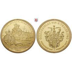 Ausbeute, Württemberg, Goldmedaille 1957, 54,33 g fein, PP: CHRISTOPHSTAL, Goldmedaille 54,33 g fein, 1957. Der heilige… #coins