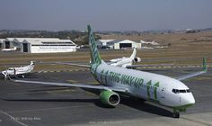 Kulula Airlines, South Africa's first low fare airline. Kulula has fun with their exteriors, outfitting their planes in funny, playful designs that reflect the culture and personality of the company. This would probably be the most fun way to fly, in a era where most airlines have turned flying into as grueling an experience as possible. When my mother was a stewardess, it was glamous. Now flying is akin to boarding a Trailways bus at Port Authority.
