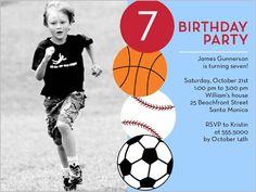 Having A Ball Birthday Invitation