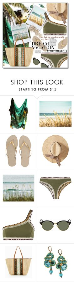 """""""#PolyPresents: Dream Vacation to feel the sand beneath my toes"""" by luvfashn ❤ liked on Polyvore featuring Loewe, Havaianas, kiini, Ray-Ban, ALDO, Dori Csengeri, contestentry, polyPresents and mydreamvacation"""