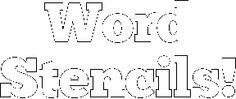 word stencils free printable