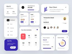 UI Elements/Components-UX/UI Design by Hira Riaz on Dribbble Wireframe Design, Dashboard Design, Ui Ux Design, Interface Design, Moodboard App, Web Png, Ui Design Mobile, Mobile Ui, Card Ui