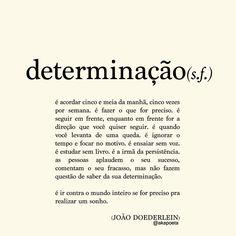 Se tem algo em mim que não se podem duvidar, é q minha determinação. Quando eu quero, eu vou até o fim, e nenhum obstáculo fica em meu caminho. ABM