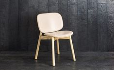 Sim-Ply Dining Chair - Upholstered Seat & Back - Ash Natural - Leather Nude