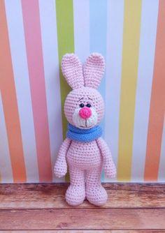 Crochet Bunny with Snood Amigurumi Free English Pattern