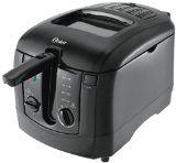 Oster Cool Touch Deep Fryer, Black Dual filters reduce grease and odorsPower and ready indicator lights and 3 liter capacityVersatile handle allows food to be lowered in oil with… Home Deep Fryer, Best Deep Fryer, Pressure Cooker Reviews, Best Electric Pressure Cooker, Specialty Appliances, Small Appliances, Kitchen Appliances, Home Design, Gas Grills On Sale