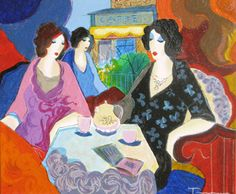 "Limited Edition Print ""La Terrace"" by Itzchak Tarkay"