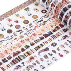 Antner Washi Masking Tape Collection DIY Scrapbooking Sticker, 12 Rolls