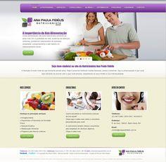 Criação e Implementaçào do Site da Nutricionista Ana Paula Fidélis.  www.wolsdesign.com
