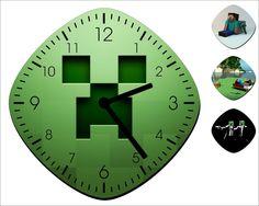 Minecraft Wall Clock - Home Decor - Room Decoration Gift. $13.99, via Etsy.
