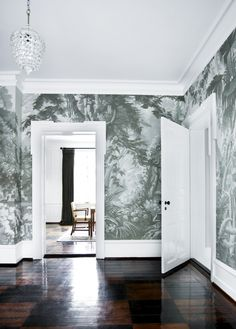 Eden European Panoramic design Hand painted wallpaper with Grisaille color. competitive price from Yrmural Studio at http://www.yrmural.com scenic mural hallway Zuber