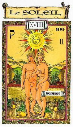 The Sun - Tarot des Templiers by Jean-Louis Victor, Willy Vassaux Divination Cards, Tarot Cards, The Sun Tarot, Katrina Kaif Photo, Jobs In Art, Tarot Major Arcana, Tarot Card Meanings, Sun Art, Oracle Cards
