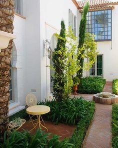 Casa en Sotogrande, Cádiz: Patio interior de inspiración árabe