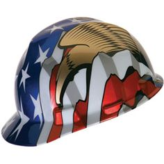 MSA V-Gard Hard Hat- American Stars and Stripes with Eagle - The bright.  American Flag EagleHard HatsFlag ... c6165b2157af