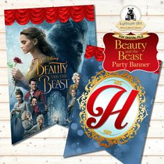Beauty and the Beast Banner  Beauty and the Beast por LythiumArt
