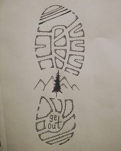 Drawing Doodles Sketches Hiking is the best! 3d Drawings, Doodle Drawings, Doodle Art, Simple Pencil Drawings, Gold Man, Camping Drawing, Doodles, Painting & Drawing, Drawing Drawing