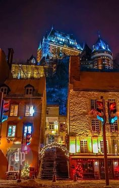 Château Frontenac, Québec City, QC, Canada. A castle that sits next to the Plains of Abraham overlooking the St. Lawrence River in the heart of Old Town. Both the river and town views from the spacious rooms are spectacular. You feel like royalty in this gorgeous space with excellent service. Grab a cocktail at the bar. And don't miss out on the breakfast buffet.