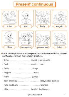 English Primary School, English Grammar For Kids, English Worksheets For Kids, English Activities, Teaching English, Magic English, English Time, Learn English, English Prepositions