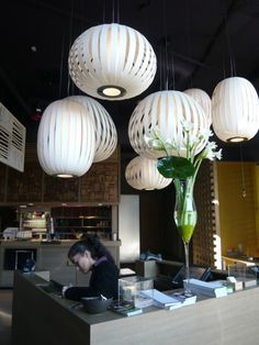 LZF LAMPS   GinYuu restaurant, Stuttgart   Wood touched by Light   Since 1994