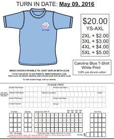 Simple TShirt Order Form Template  Besttemplates  Sample