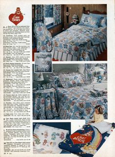 I still have that Care Bears sleeping bag!!!! l  9 Awesomely '80s Kids Bedrooms