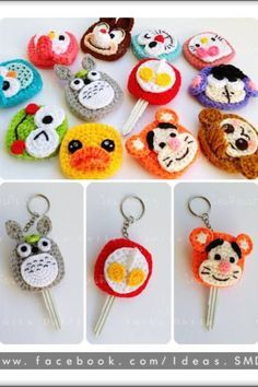 「how to make amigurumi mushroom key cover」の画像検索結果 Crochet Cozy, Love Crochet, Crochet Gifts, Diy Crochet, Crochet Totoro, Crochet Key Cover, Crochet Keychain, Amigurumi Patterns, Crochet Accessories