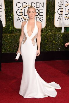 All of the chicest red carpet arrivals from the Golden Globes: Kate Hudson