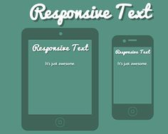 Responsive Text – jQuery Plugin for Responsive Texts