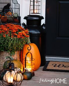 A Fall Front Door Makeover
