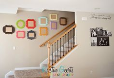 Wall gallery for your stair way | Frames via The Organic Bloom
