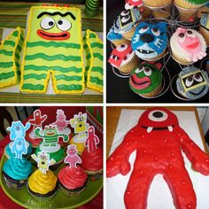 Yo gabba gabba cakes :)