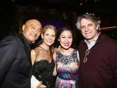 Team The King and I: Ken Watanabe, Kelli O'Hara, Ruthie Ann Miles and Bartlett Sher at the Tony Honors cocktail reception