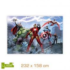 Papier peint impression 2 feuilles - 232x158 cm - Marvel