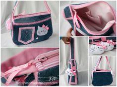 Detailbilder zur Kitty Tasche. Das Schnittmuster ist auch auf dieser russischen Seite kostenlos zu finden.