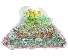 This colorful small-space garden looks great in partially shady spots and is easy to maintain.