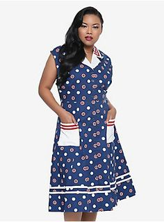 LOVE this Captain America dress by Her Universe!