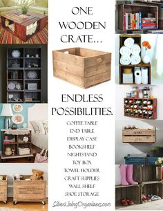 Using Wooden Crates