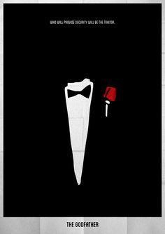 The Godfather (1972) ~ Minimal Movie Poster by Lucas Felipe #amusementphile