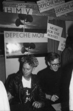 DM 01.10.1987 Depeche Mode HMV London, 150 Oxford Street - Music for the Masses Promo ©HMV