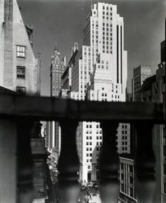 Berenice Abbott. Squibb Building with Sherry Netherland in the background, 745 Fifth Avenue, Manhattan. (November 21, 1935)