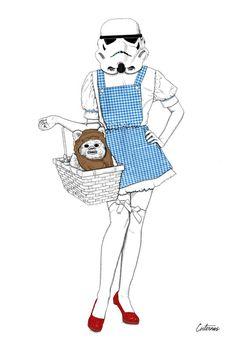 Dorothy trooper Art Print